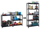 Self Assembly Plastic Shelving 5Shelf Unit Dual Solution 90cm L x 40cm W x 184cm H By Garland