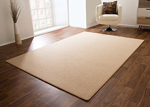 Designer Teppich Modern Cardiff Flachgewebe in Sand, Größe: 120x180 cm