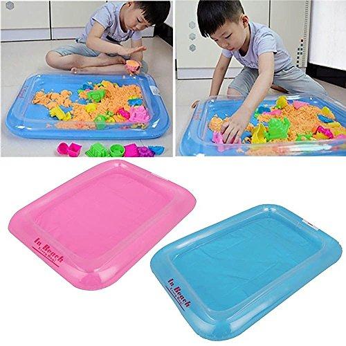 Kompassswc Aufblasbarer Mini Sandkasten 60x45cm Sandkiste Kinder Spielzeug für Sand Zaubersand,Magic Sand ZUFÄLLIG Farbe (2 Stück)