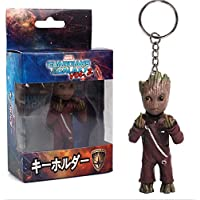 BEYOND MS Mini Groot Figures Movie Guardians of the Galaxy 2 Keychain Pendant Model Toy Best Gifts - (Erect Middle Finger)