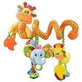 Highdas Baby Music Lit Hanging & Cribs Décorations Serpent Hibou Duck Beetle Bee Rattle Gum Oiseaux Lapin ours avec miroir et Bell