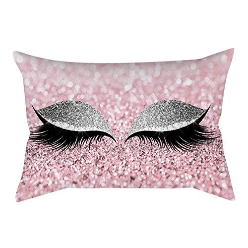 ODJOY-FAN Wimper Aus Weich Samt Kissenbezug 30x50 cm Polster Abdeckung Marmor Kissen Fälle Zuhause Sofakissenbezug Pillowcase Dekoration(C,1 PC)
