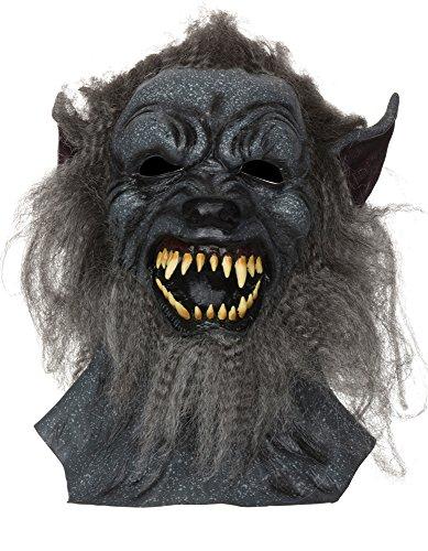 5Wolf Maske grau Hairy (One Size) (Scary Halloween-kostüm Ideen Für Männer)