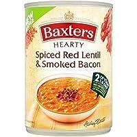 Baxters Abundante Con Especias De Lentejas Rojas Y Ahumado 400g Sopa De Tocino (Paquete de 6)