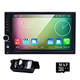 "HIZPO Universal 2 Din Autoradio 4-Core Android 5.1 Lollipop Car in Dash Stereo Radio 7""HD 1024*600 Muti-touch Screen GPS Navigation Vedio Player Support WIFI OBD2 TV DVR DAB+ Screen Mirror+Rearview Camera"
