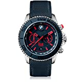 Ice-Watch - BMW Motorsport (steel) Blue Red - Blaue Herrenuhr mit Lederarmband - Chrono - 001122 (Large)