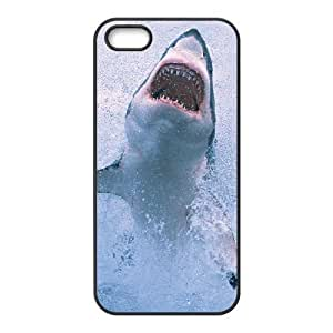 DIY Schöne Scary shark Custom Cover Schutzhülle für iPhone 5s Schwarz Shell Phone [pattern-4] KA KA Fall