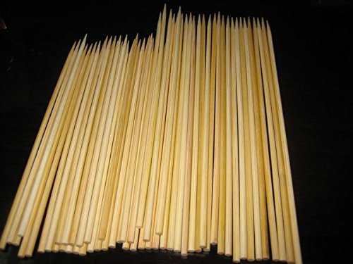 Image of 100 X 30 cm / 12in food grade Wooden Bamboo BBQ Skewers