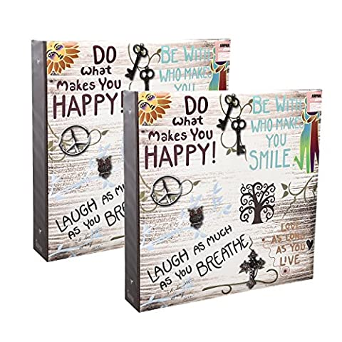 2 x Slip In Case 3-Ring Binder Photo Album Holds 500 Photos 6'' x 4''/ 10x15 cm By Arpan (Life inspirational slogans)