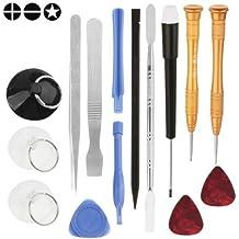 ACENIX® 15en 1de alta calidad reparación de apertura Kit de herramientas para iPhone 4/4S/5/5S/6/6S/6Plus, Samsung Galaxy S3, S4, S5, S6, S7