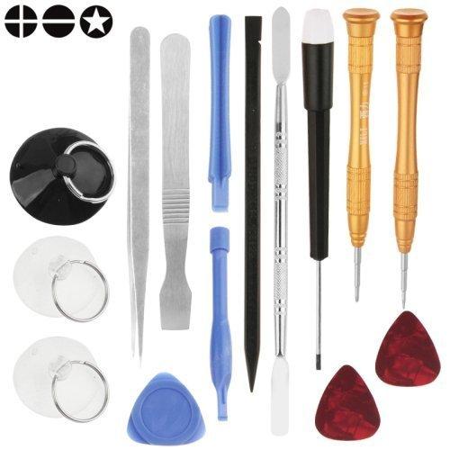 ACENIX® 15 iN 1 Premium Qualität Reparatur-Werkzeug Kit für iPhone 4/4S/5/5S/6/6S/6 Plus, Samsung Galaxy S3,S4,S5,S6,S7 (Iphone 5s Motherboards Für)