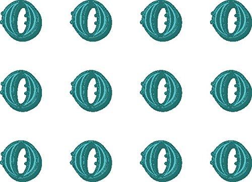 12x O (Buchstabe) Farbige 38mm (3,8cm) vorgeschnittenen Essbares Reispapier Cupcake Dekoration # 30