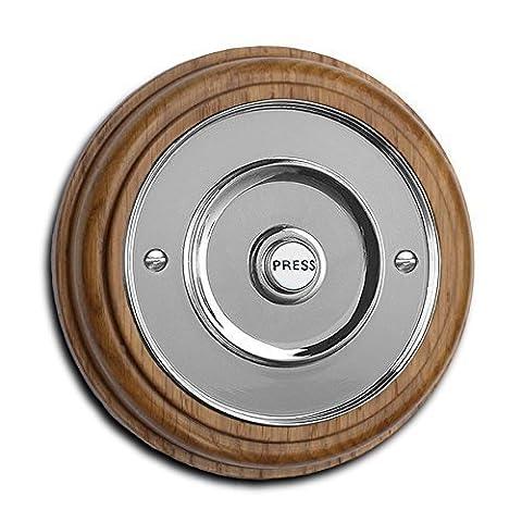 Honey Oak Plinth, varnished, with 100mm dia. (4