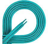 Ladeheid Qualitäts-Schnürsenkel LAKO1001, Flachsenkel für Arbeitsschuhen und Sportschuhen aus 100% Polyester, ca. 7 mm Breit, 18 Farben, 60-200 cm Länge (türkis252, 160cm)
