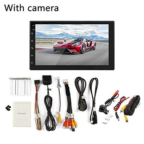 J-Rrafy Lettore Mp5 per Auto Navigatore GPS Android 8.1 Auto Mp5 GPS Player + Phonelink + Bluetooth + Funzione AM/FM + WiFi - 2 DIN 16G Memory 7 Pollici HD Touch Screen, Musica del Telefono Bluetooth