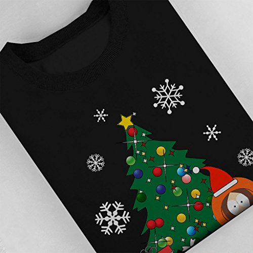 Kenny Around The Christmas Tree South Park Womens Sweatshirt Black