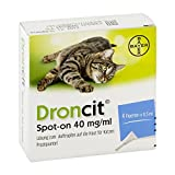 droncit spot on 40mg/ml lsg.z.auftr.a.d.haut f.ka. 4X0.5 ml
