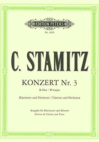 Konzert 3 B-Dur - Klar Orch. Klarinette, Klavier