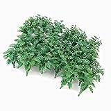 Hilai 50pcs circa 1/50 paesaggio paesaggio modello erba copertura al suolo verde con foglie triturate