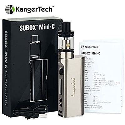 Authentic Kangertech Subox Mini-C Kit Electronic Cigarette Kbox Mini-C mod and Protank 5 Atomizer Kanger E Cigarette (Silver) by Kangertech