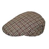 TOSKATOK Herren Tweed Flat Cap Beige LXL