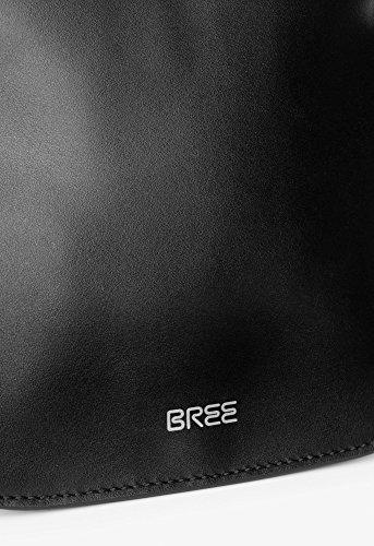 BREE Cordoba 6 | Cross Shoulder Bag | zierliche Umhängetasche in Größe XS mit Magnetverschluss | black black