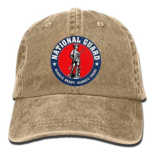 JIEKEIO Funny Baseball Caps Hats Air National Guard Full Color Veteran Unisex Adult Adjustable Cowboy Dad Caps National Guard Hat