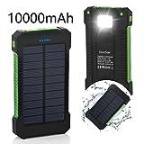 Solar Ladegerät, VivoStar 10000 mAh Solar Power Bank mit Solar Paneel dualer USB...