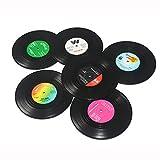 Basico 6 Stücke Set Hause Tisch Tasse Matte Kreative Kaffee Trinken Tischset für Tisch Spinning Retro Vinyl CD Rekord Getränke Untersetzer Mode