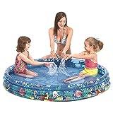 Jilong Tropical Fish Pool Ø 122 x 25 cm Kinderpool Planschbecken Schwimmbecken Kinder Schwimmbad für Garten und Terasse