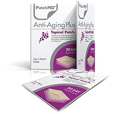 PatchMD Anti-Aging PlusTM 30 Daily Topical Patches. 100% Natural & Vegan. Allergy & Filler Free. High Absorption More bioavailable. Suitable for Sensitive stomachs & bariatric.