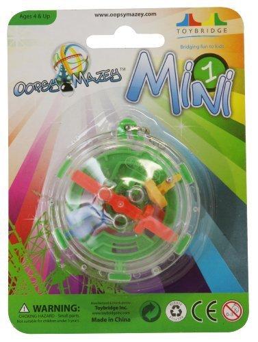 Oopsy Mazey-Mini 1, süchtig machendes maze Ball-Schlüsselanhänger, Garten, Rasen, Instandhaltung