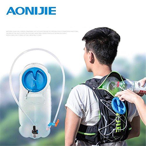 Faltbares TPU Wasserbeutel Trinkblase Trinkbeutel mit Schlauch und Mundstück für Marathon Running Wandern BPA-frei Große Öffnung Trinksystem Outdoor, 1.5L/2.5L