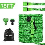 Tubo da Giardino, 75FT 22.5M Tubo da Giardino Tubo da Giardino espandibile con 8 Funzione di spruzzo, Tubo Acqua Estendibile Tubo Irrigazione per Lavaggio Auto e Giardino di Casa (Verde) (Green)