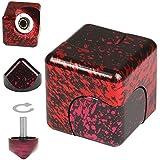 KOSBON Metal Aluminum Cube Juguetes, Removible Rubik Cube juguetes traviesos. (Black)