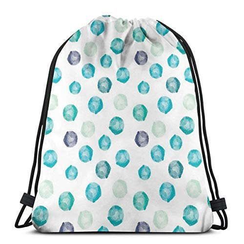 WTZYXS Drawstring Sack Backpacks Bags,Hand Painted Style Round Shapes Pattern In Different Pastel Colors Abstract Design,Adjustable,5 Liter Capacity,Adjustable. -