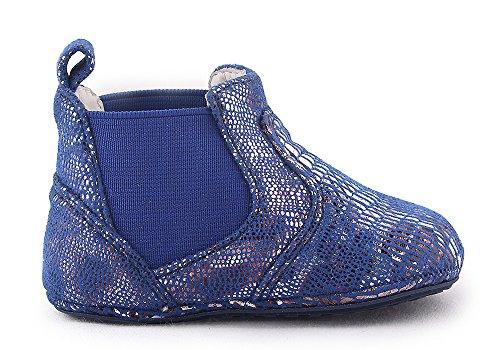 Cartoonimals Babyschuhe Mädchen Jungen Neugeborene Weiche Rutschsicheren Baby Kinder Schuhe Mid Cut Boots Patt Blue