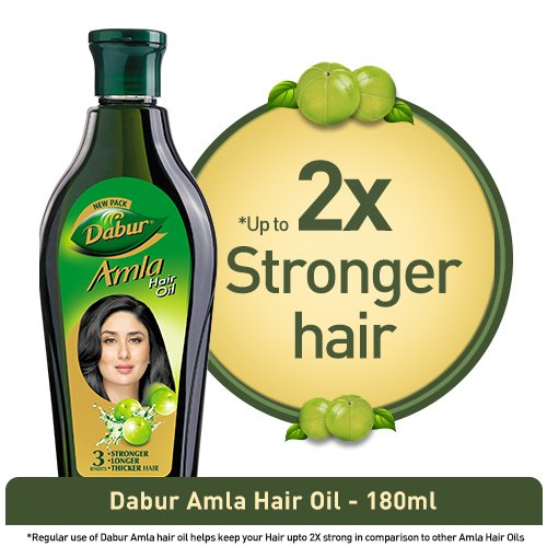 Dabur Amla Hair Oil for Long, Healthy & Strong Hair –180ml