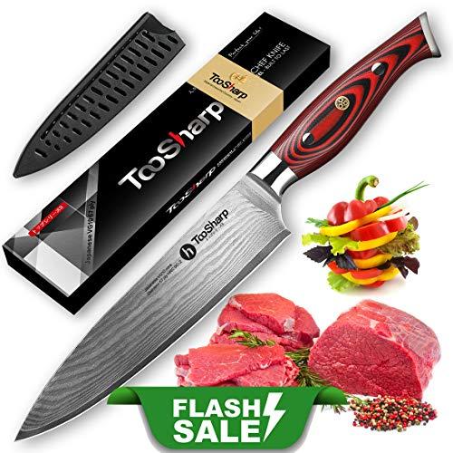 TooSharp Cuchillo Chef 20 cm japonés VG10 Super Steel
