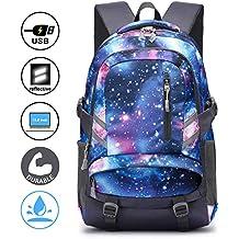a5ed5b71b0 E-ZONED Zaino Scuola Superiore Per PC 15.6 Pollici da Donna e Uomo, Backpack