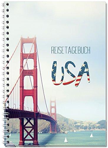 Reisetagebuch USA / Amerika zum Selberschreiben / Notizbuch A5 Ringbuch mit 120 Seiten / Packliste, Reiseplan, Zitate, spannende Reise-Challenges...Ver.1 - Von Sophies Kartenwelt