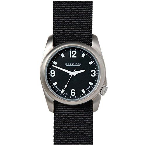 Bertucci 13469mens orologio quadrante cinturino in nylon nero