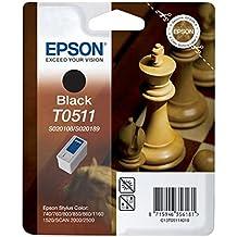 Epson T0511 Tintenpatrone Schach, Singlepack, schwarz