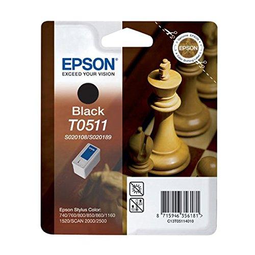 Epson T0511 Cartouche d'encre d'origine Noire S020108 et S020189