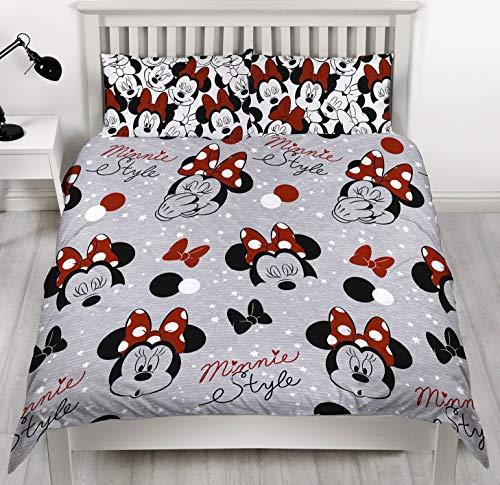 Disney Minnie Mouse Bettwäsche-Set, wendbar, für Einzelbett/Doppelbett, Multi, Bettbezug für Doppelbett