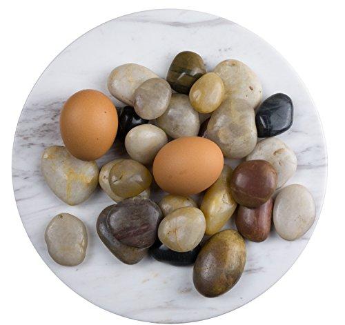 Dekosteine, Kieselsteine, Ziersteine, Flusskiesel, Flusskieselsteine, Natursteine, bunte Mischung, in 1KG-Packung