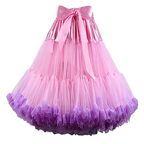 Kostüm Ballett Tanz Für Verkauf - FOLOBE Frauen Tutu Kostüm Ballett Tanz Multi-Layer Puffy Rock Erwachsene luxuriöse weiche Petticoat