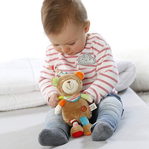 Kuscheltier mit integriertem Spielwerk mit sanfter Melodie zum Aufhängen an Kinderwagen, Babyschale oder Bett, für Babys und Kleinkinder Mini-Spieluhr Teddy - Teddy, Spielwerk, sanfter, Monaten, MiniSpieluhr, Melodie, Kuscheltier, Kleinkinder, Kinderwagen, Fehn, Bett, Babyschale, Babys, baby einschlafhilfe auto, Aufhängen