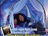Tenda, tenda da letto, tenda da gioco per bambini pop-up, casa fantasy per bambini, compleanno e regali di Natale (fiocco di neve)