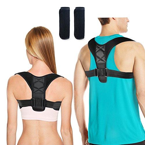 Foto de DINOKA Corrector de Postura de Mujeres Hombres Brace Ajustable Hombro Enderezar la Espalda Cómodo Respirable Respaldo Anchura Hombro Clavícula Apoyo Espalda